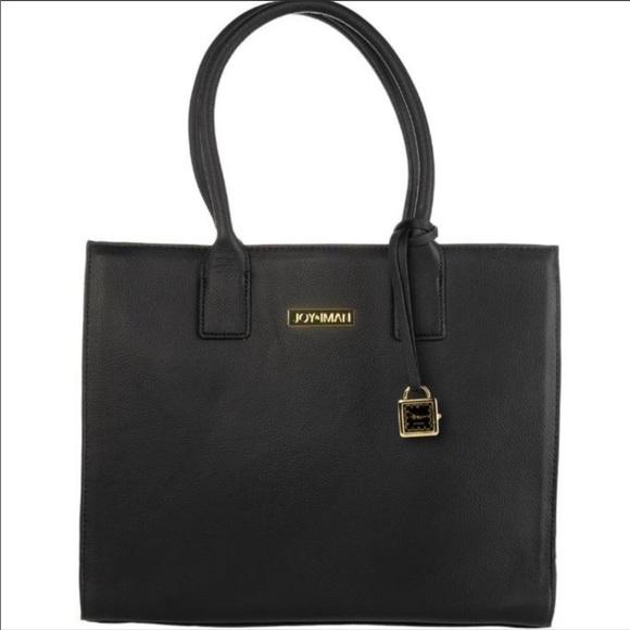 d07c88fc36f5 Joy Mangano Bags | Joy Iman Genuine Leather Glamour Handbag Tote ...